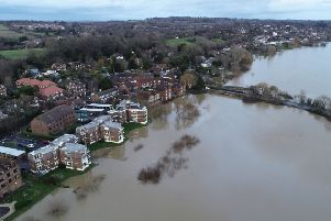 The flooding in Pulborough on Friday