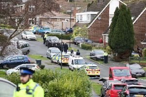 Police at the scene of the tragedy in Hazel Way, Crawley Down SUS-191223-104139001