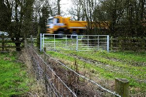 Proposed site entrance/exit onto busy road at Ham Farm near Steyning Pic Steve Robards  SR1705311 SUS-170314-153449001