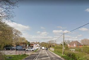 The collision happened in Fox Hill, Haywards Heath. Picture: Google Street View