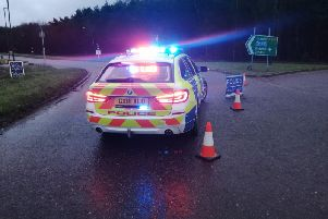 Police have closed off the A264 due to an incident. Picture: Sussex Roads Police