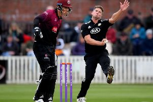 Stuart Meaker in one-day action for Surrey / Picture: Getty