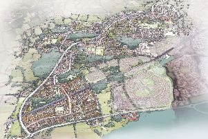 Homes England overview of the possible development at land West Of Ifield