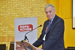 Jonathan Aitken at the Hope in Action conference at the Salvation Army Citadel