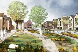 An artist impression of the Northern Arc development in Burgess Hill. Picture: Homes England