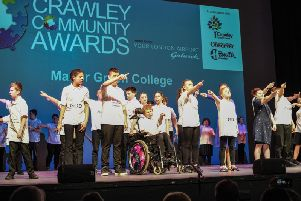 Students from West Green College performing at the 2019 Crawley Community Awards