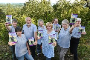Heathlands Reunited project volunteers, who were highly commended in the National Parks' UK Volunteer Awards for their work in the South Downs National Park, with their book, The Fish, The Goatsucker and The Highwayman