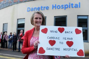 Protest to save the cardiac unit in 2013 which has been recently revived