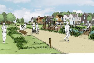 An artist impression of Mickle Well Park
