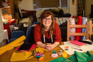 Paula Milner has set up a base for her craft workshops at her home in Lower Boddington, Northants. Photo: Mark Lord Photography NNL-171010-154209001