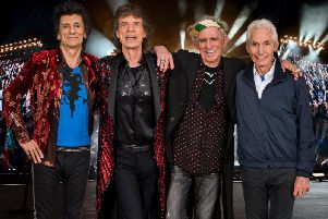 Ronnie Wood, Mick Jagger, Keith Richards and Charlie Watts