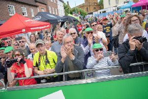 The finish of the stage in Daventry
