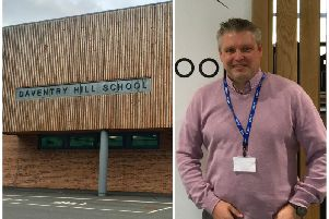 Gareth Ivett started his new role at Daventry Hill School two weeks ago