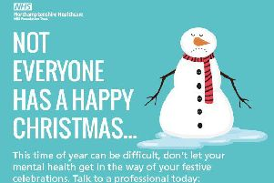 Northants health trust urges people struggling with their mood over Christmas to seek help