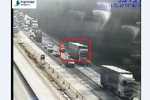 Picture from Highways England from traffic camera