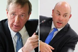 Daventry District Council leader Chris Millar (left) was disappointed with the actions of county council leader Matt Golby
