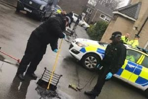 A drain is searched following the shooting over Christmas NNL-190221-140655005