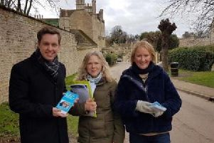 Annabel de Capell Brooke on the campaign trail earlier this month