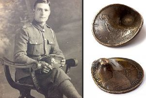 Coin which saved Northants Regiment soldier's life up for auction