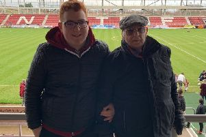 Frank Grande and grandson Ethan at the PTS Academy earlier this season