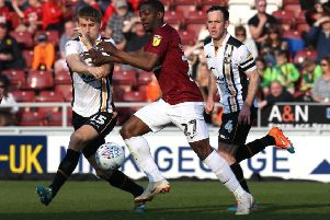 Marvin Sordell battles for possession against Port Vale. Picture: Pete Norton/Getty Images