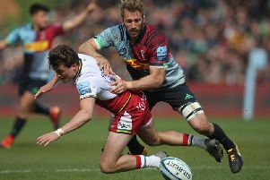 George Furbank was forced off early on at the Stoop