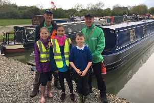 Fun day for children on canal in run up to spectacular Crick Boat Show