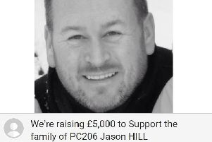 The fundraising page in memory of PC Hill has already raised more than �5,000. NNL-190105-095153005