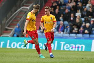 Sam Hoskins scored another screamer against Oldham on the final day. Picture: Pete Norton