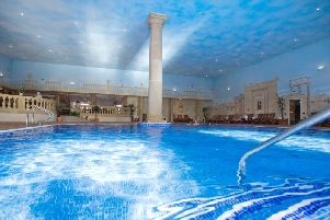 The tranquil swimming pool in the Leisure Club