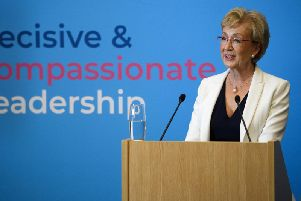 South Northamptonshire MP Andrea Leadsom launches her bid to be Conservative party leader. Photo: Getty Images
