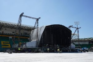 Setting the stage at Franklin's Gardens. Picture via @FranklinsGdns