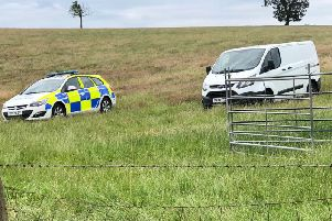 Police 'in the middle of nowhere' after the latest sheep attack near Whilton. Photo: Northamptonshire Police/Twitter