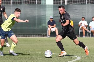 Matty Warburton scored a hat-trick against Bournemouth U23s in a training game in Spain this week. Picture: Pete Norton