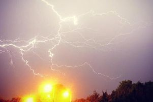 A yellow weather warning has been issued for thunderstorms in Northamptonshire today (Tuesday)