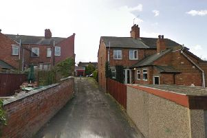 The woman was attacked in the alleyway between Warwick Street and West View in Daventry. Photo: Google