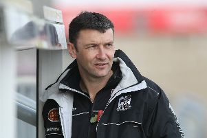 Ian Sampson during his time as Cobblers manager