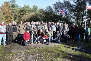 Royal British Legion Poppy Appeal county launch with scooter and motorbike rally from Brixworth to Harrington Air Base War Memorial.