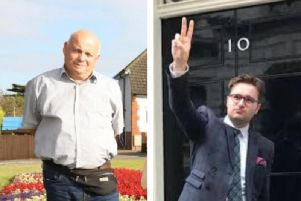 Both Conservative councillors have been suspended pending an investigation.