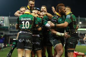 Saints celebrated a huge derby-day win against Tigers