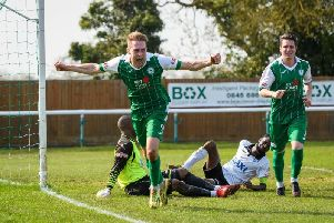Jack Bowen equalised for Daventry Town at Dunstable Town
