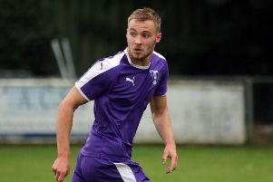 Taylor Orosz was on target for Daventry Town against North Leigh