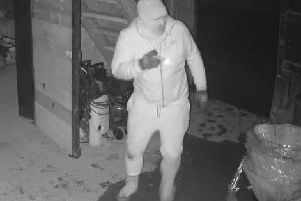 Police issued this CCTV image of a man following a break-in at a Chapel Bramptton farm in December