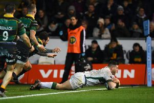 Dave Porecki pounced to win it for London Irish