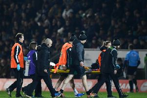 Piers Francis was stretchered off at Franklin's Gardens last Friday