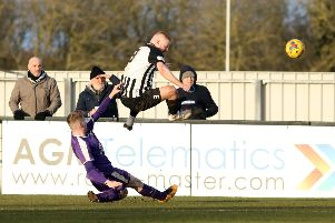 Action from Saturday's game betwen Corby Town and Daventry Town