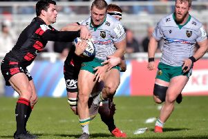 Ollie Sleightholme started at Lyon as Saints claimed their first win in France since 2011
