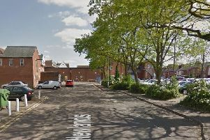 The sexual assault happened in an alleyway between Sheaf Street and the Aldi car park