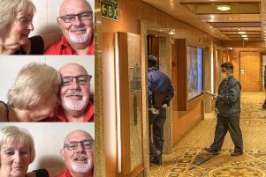 David and Sally Abel's golden wedding cruise turned into a nightmare