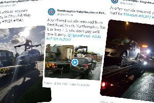 Northamptonshire Police highlight seizing untaxed vehicles via their Twitter posts